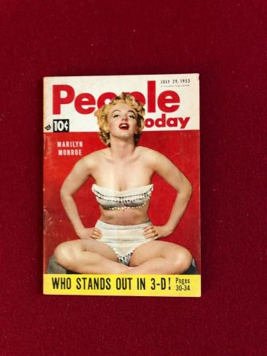"1953, Marilyn Monroe, ""People Today"" Magazine (Scarce) Vintage"