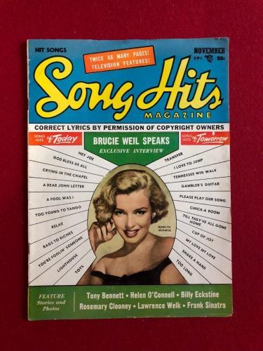 "1953, Marilyn Monroe, ""Song Hits"" Magazine (No Label) Scarce"