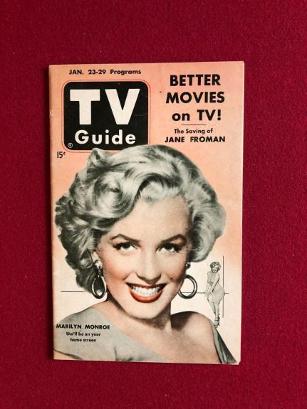 "1953, Marilyn Monroe, ""TV GUIDE"" (No Label)  (Scarce)"