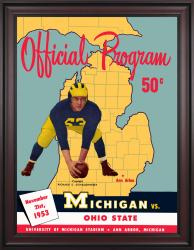 1953 Michigan Wolverines vs Ohio State Buckeyes 36x48 Framed Canvas Historic Football Poster