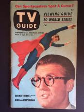 """1953 Superman """"TV Guide"""" (George Reeves), No Label!!"""