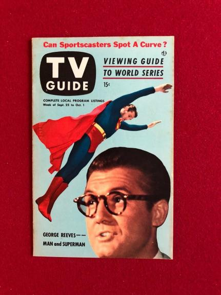 """1953, SUPERMAN, """"TV GUIDE"""" (No Label on Front) Scarce"""