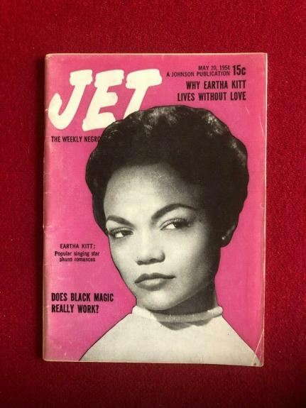 "1954, BATMAN (Eartha Kitt) ""CATWOMEN""  JET Magazine (Scarce / Vintage)"