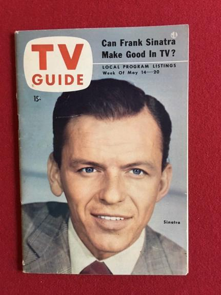 "1954, Frank Sinatra ""TV Guide"" (No Label on Front) Scarce"