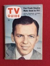 """1954, Frank Sinatra """"TV Guide"""" (No Label on Front) Scarce"""