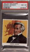 1954 Golden Stamps Presidents Andrew Jackson Pop 1 Psa 8 N2413968-091