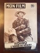 "1954, John Wayne, ""Mon Film"" Oversize (12"" Tall) Magazine (Scarce)"