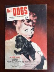 "1954 Lucille Ball, ""Our DOGS"" Magazine (Scarce)"