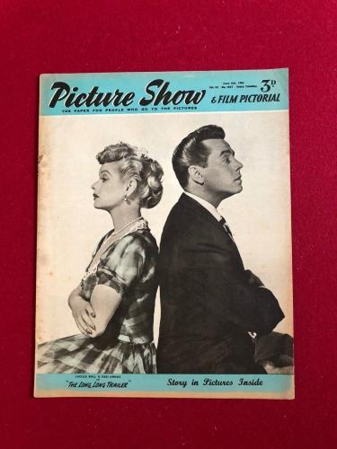 """1954, Lucille Ball, """"Picture Show"""" Oversize Magazine (Scarce) (I Love Lucy)"""