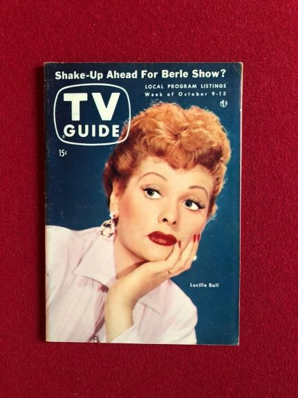 """1954, Lucille Ball, """"TV GUIDE"""" (No Label on Front)  Scarce"""