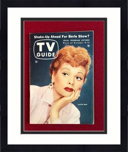 "1954, Lucille Ball, ""TV GUIDE""  (Scarce) (No Label on Front) (I Love Lucy)"