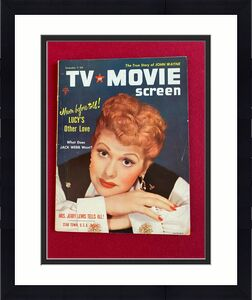 """1954, Lucille Ball, """"TV & MOVIE SCREEN"""" Magazine (No Label) Scarce (I Love Lucy)"""