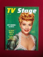 """1954, Lucille Ball, """"TV Stage"""" Magazine (No Label) Scarce"""