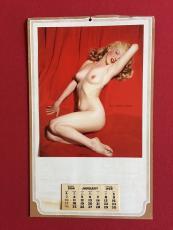 """1954, Marilyn Monroe, """"Golden Dreams"""" Calendar (Scarce)"""