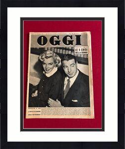 """1954, Marilyn Monroe & Joe DiMaggio, """"OGGI"""" Magazine"""