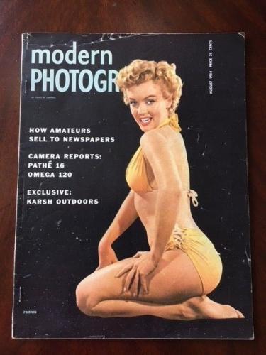 "1954 Marilyn Monroe, ""Modern Photography"" Magazine (Scarce) (No Label)"