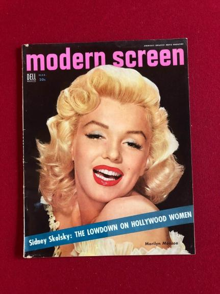 "1954, Marilyn Monroe, ""Modern Screen"" Magazine (No Label) Scarce"