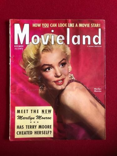 "1954, Marilyn Monroe, ""Movieland"" Magazine (No Label) Scarce"