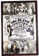 1954 Movie Poster for Irving Klaw's 1954 film 'VARIETEASE'' Original