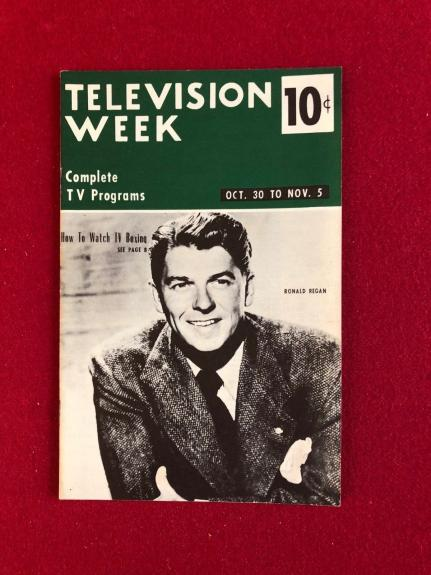 "1954, Ronald Reagan, ""TELEVISION WEEK"" (No Label) Scarce"