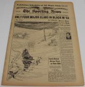 1954 Sporting News Magazine TSN 2/3/54 Dimaggio Marilyn Monroe Tom Yawkey Ex/MT