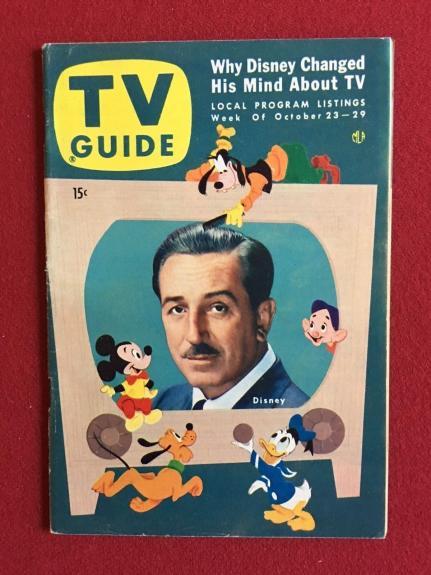 "1954, Walt Disney ""TV GUIDE"" (No Label on Front), Scarce"