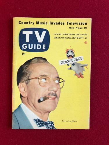 "1955, Groucho Marx, ""TV GUIDE""  (No Label)  Scarce"