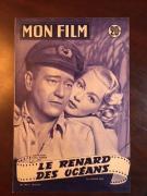 "1955, John Wayne, ""Mon Film"" Oversize (12"" Tall) Magazine (Scarce)"