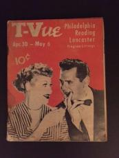 "1955 Lucille Ball (I Love Lucy), ""T-VUE"" Program Guide"