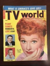 """1955, Lucille Ball (I Love Lucy), """"TV World"""" Magazine (No Label) Scarce"""
