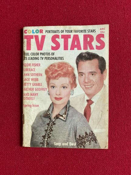 "1955, Lucille Ball  ""TV STARS"" Magazine (Scarce / Vintage) I Love Lucy"