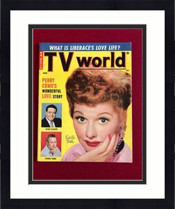 """1955, Lucille Ball, """"TV World"""" Magazine (No Label)  Scarce  (I Love Lucy)"""