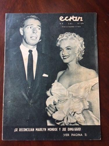 "1955 Marilyn Monroe, ""ECRAN"" Magazine (Rare)"