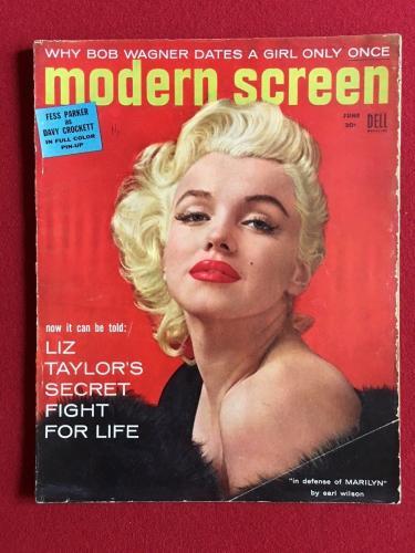 "1955, Marilyn Monroe, ""Modern Screen"" Magazine (No Label) Scarce"