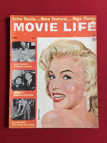 "1955, Marilyn Monroe, ""MOVIE LIFE"" Magazine (No Label) Scarce"