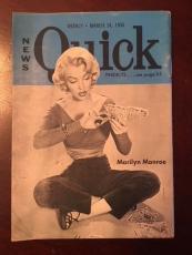 "1955, Marilyn Monroe, ""Quick"" Magazine.  (Scarce)"