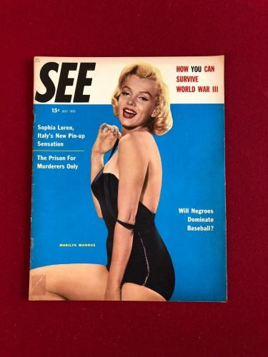 "1955, Marilyn Monroe, ""SEE"" Magazine (No Label) Scarce"