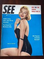 "1955 Marilyn Monroe, ""SEE"" Magazine (Scarce) (No Label)"