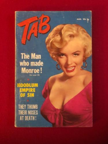 "1955, Marilyn Monroe, ""TAB"" Magazine (Scarce)"