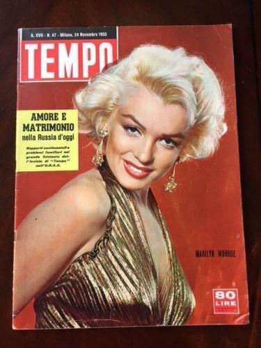 "1955 Marilyn Monroe, ""TEMPO""  Oversize Magazine (Scarce) (No Label)"