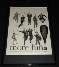 1955 NBC Frank Sinatra Bob Hope Framed 11x17 ORIGINAL Advertising Display
