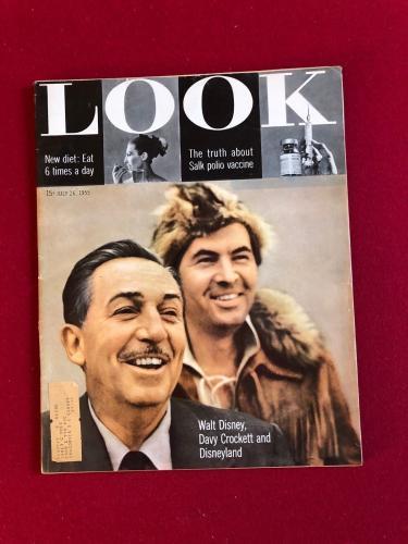 "1955, Walt Disney, ""LOOK"" Magazine (1st Year of Disneyland) Scarce"