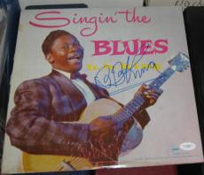 1956 B.B. BB KING Blue Legend SIGNED Singin The Blues Album JSA/COA AUTOGRAPHED