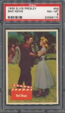 1956 Bubbles Elvis Presley #56 Bad News PSA NM-MT 8 *9175