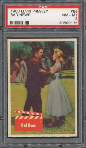 1956 Bubbles Elvis Presley #56 Bad News PSA NM-MT 8 *9175