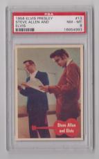 1956 Bubbles Elvis Presley And Steve Allen Card #13 Psa 8 Nm-mt & Centered