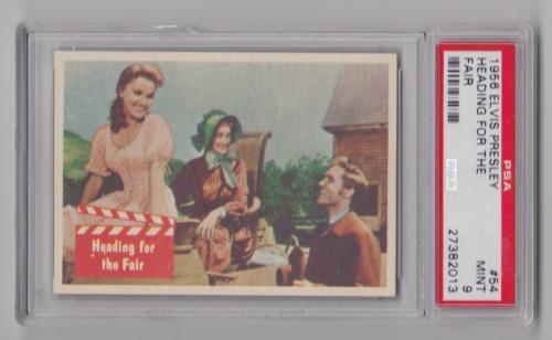 1956 Bubbles Inc Elvis Presley Heading For The Fair Card #54 Psa 9 Mint Pop 3