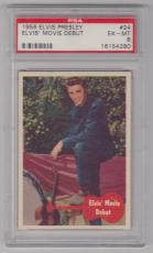 1956 Bubbles Inc Elvis Presley Movie Debut Card #24 Psa 6 Ex-mt Condition