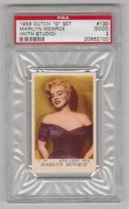 "1956 Dutch ""g"" Set Marilyn Monroe (with Studio) Card #130 Seven Year Itch Psa 2"