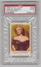 "1956 Dutch ""g"" Set Marilyn Monroe (with Studio) Card #130 Seven Year Itch Psa 2"